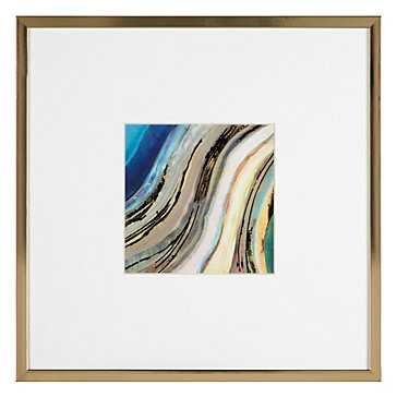 Agate In Peacock 1 - Gold Frame with Mat - Z Gallerie