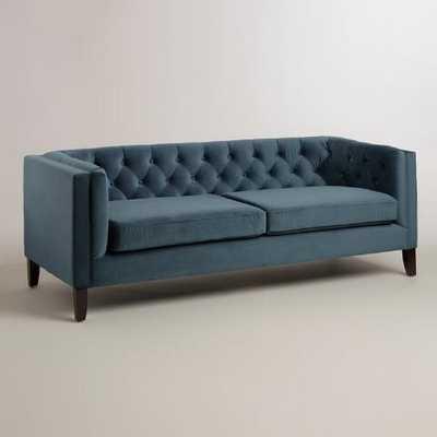 Midnight Blue Velvet Kendall Sofa - World Market/Cost Plus