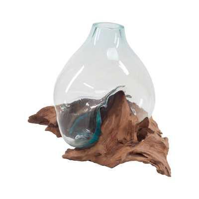 Driftwood Glass Bottle - Rosen Studio