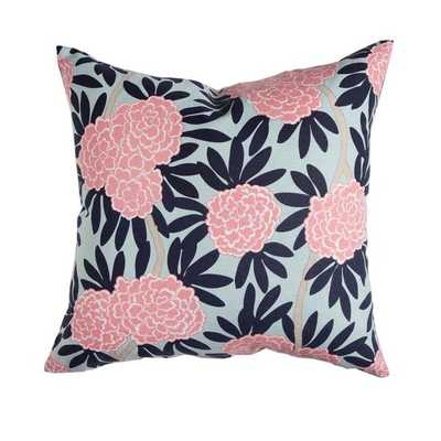 NAVY FLEUR CHINOISE PILLOW- Insert not included - Caitlin Wilson