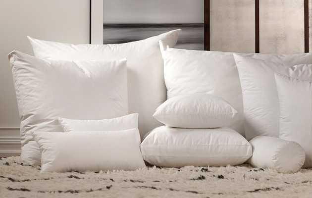 """Havenly Recommended Basic: Down Alternative  Pillow Insert - 19"""" x 19"""" - Noble Feather Co."""