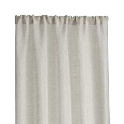 "Linen Sheer Curtain Panel - Natural - 84"" - Crate and Barrel"