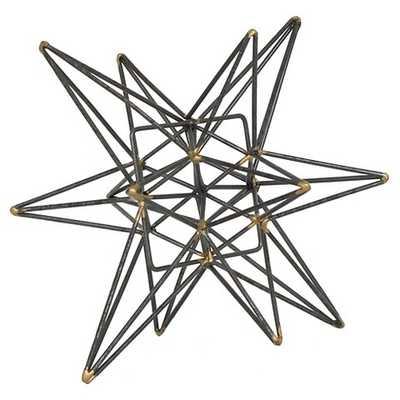 Star Figurine Metal Tabletop Décor In Steel Finish - Grey - Target