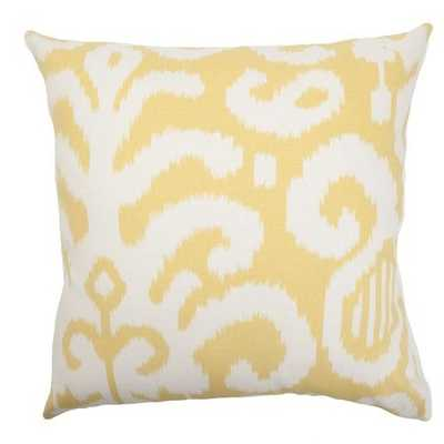 Teora Ikat Pillow  - With Down Insert - Linen & Seam