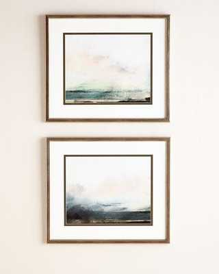 "Two ""Pranava Sunrise"" Giclees - Set of 2 - Silver frame - With mat - Horchow"