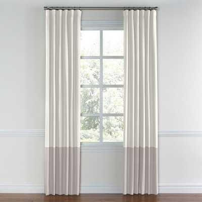 "COLOR BLOCK DRAPERY -Blackout lining-Classic linen- Ivory-84"" - Loom Decor"
