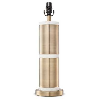 Franklin Lamp Base Large - Marble/Aged Brass - Threshold - Target
