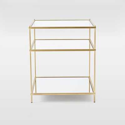Terrace Nightstand - Antique Brass - West Elm