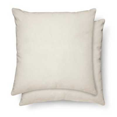 Suede Pillow 2-Pack - Cream, 18x18, With Insert - Target