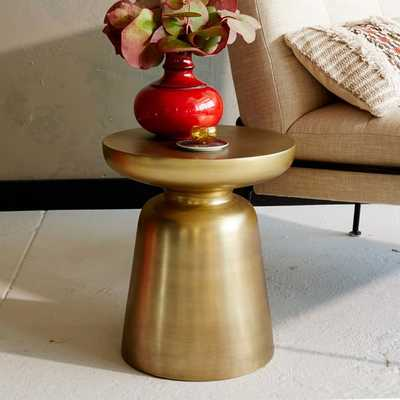 Martini Side Table, Antique Brass - West Elm