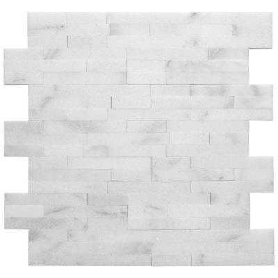 Venetian Brick Stone Mosaic Wall Tile - 12x12 - Home Depot
