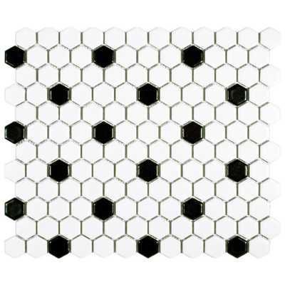 Metro Hex Porcelain Mosaic Tile - Home Depot