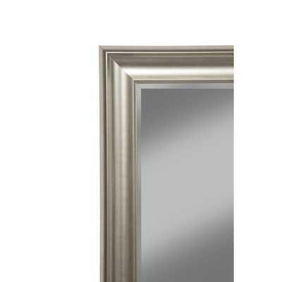 Sandberg Furniture Champagne Silver Finish Full Length Leaner Mirror - Overstock