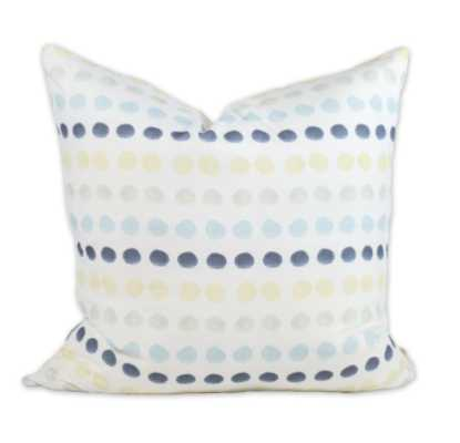 "Mod Dots pillow - 20"" x 20"" - Feather Down insert - bunglo"