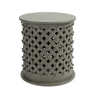 Bornova Side Table - Warm Gray - Ballard Designs