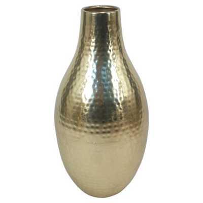 """13.5"""" Gold Metallic Vase - Target"""