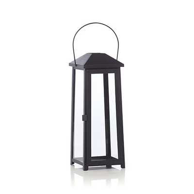 Petaluma Medium Black Metal Lantern - Crate and Barrel
