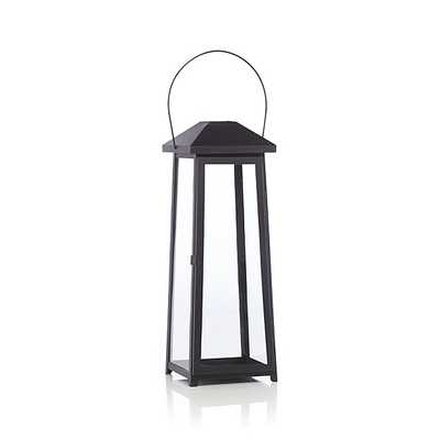 Petaluma Large Black Metal Lantern - Crate and Barrel