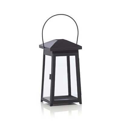 Petaluma Small Black Metal Lantern - Crate and Barrel