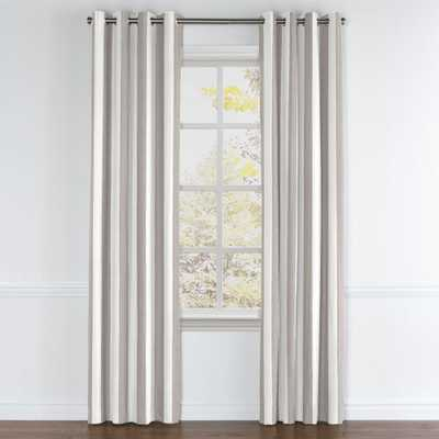 GROMMET DRAPERY PANEL | in band stand - rock - blackout lining - 84x50 - Loom Decor