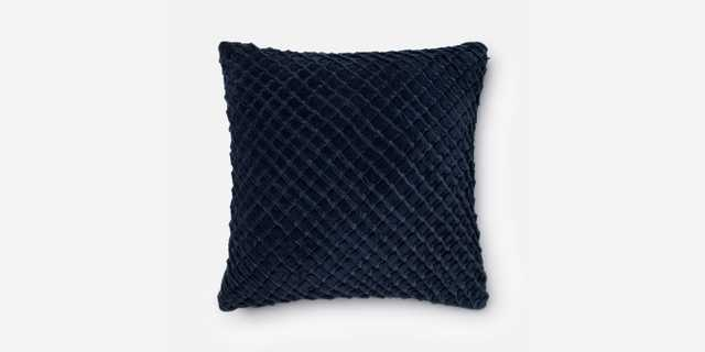 "P0125 NAVY Pillow - 22"" x 22"" with Down Insert - Loma Threads"