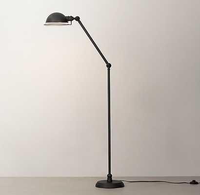 ACADEMY TASK FLOOR LAMP - SOFT IRON - RH Teen