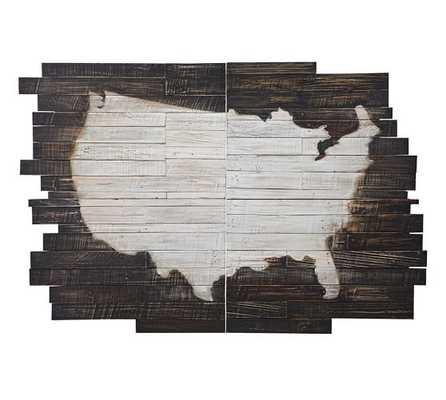 "Planked USA Wall Art Panels, 54 x 79"" - Pottery Barn"