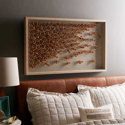 """Nature of Wood Wall Art - Cascade - 40"""" x 24"""" - Natural Wood  Frame - West Elm"""