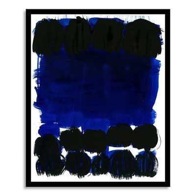 "The Arts Capsule Ink Print, Modern Indigo 3, 18""x22"" - Framed - West Elm"
