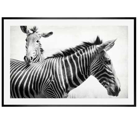 """Zebras by Lupen Grainne, 42 x 28"""", Black Wood Gallery Frame- Without Mat - Pottery Barn"""