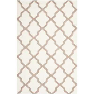 Safavieh Handmade Moroccan Cambridge Ivory Wool Rug - 6' x 9' - Overstock