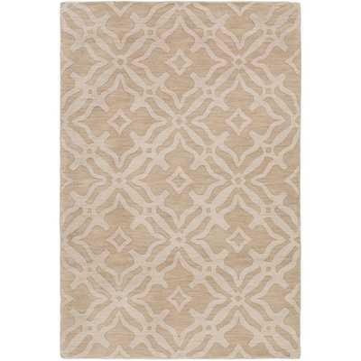 Hand-Loomed Ledo Wool Rug (6' x 9') - Beige - Overstock