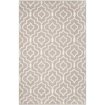 Safavieh Handmade Moroccan Cambridge Collection Beige/ Ivory Wool Rug (6' x 9') - Overstock