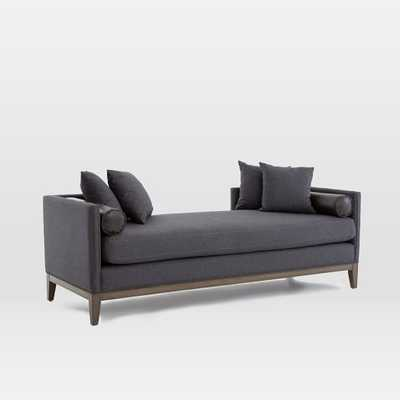 Upholstered Nailhead Double Chaise - West Elm