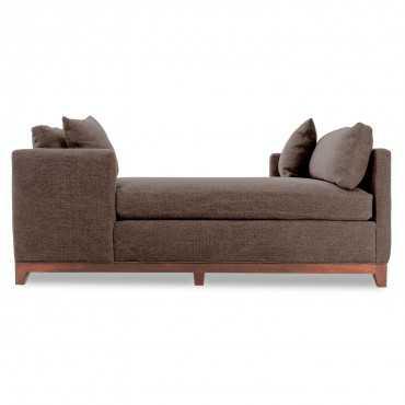 Inn double chaise - stonewash mcgee cafe noir - ABC Home and Carpet