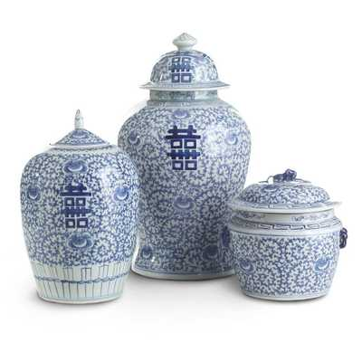 HAPPINESS POTS - SET OF 3 - Wisteria