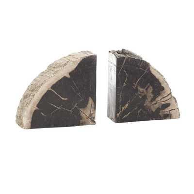 Petrified Wood Bookends - Wisteria