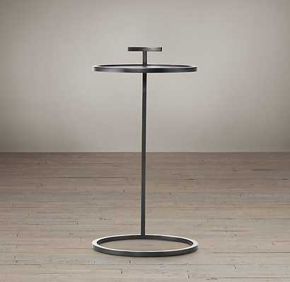 "1930S MARTINI SIDE TABLE - 14""D - BRONZE - RH"
