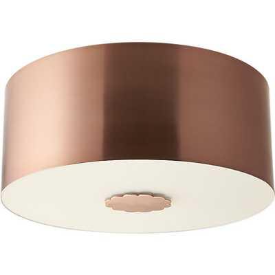 Blanche flush mount lamp - CB2
