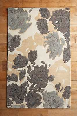 Rose Relief Rug - Neutral - 5' x 8' - Anthropologie