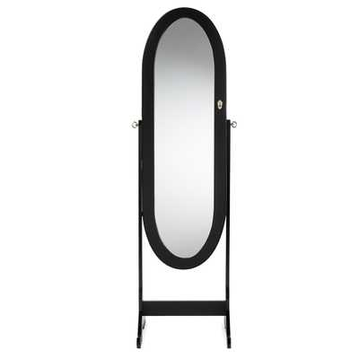 OVAL SHAPED FREE STANDING CHEVAL MIRROR JEWELRY ARMOIRE - Lark Interiors