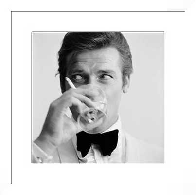 """Shaken Not Stirred - 24.00""""x23.75"""" - White frame - White mat - Photos.com by Getty Images"""