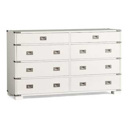 Devon Campaign Extra-Wide Dresser - Sky White - Pottery Barn