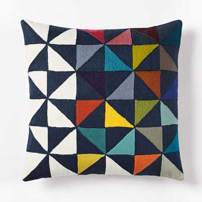 """Wallace Sewell Multi Pinwheel Crewel Pillow Cover - 18""""sq. - Insert Sold Separately - West Elm"""