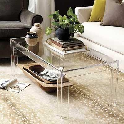 Felicity Acrylic Coffee Table - Ballard Designs