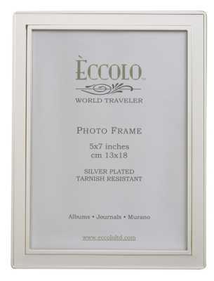 Silverplate Frame Raised Edge 8'' x 10'' - Alma Decor