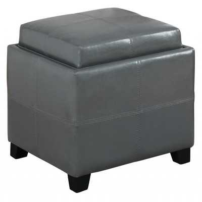 Storage Cube With Reversible Tray - Grey - Wayfair