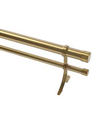 "Double Rod Drapery Hardware Kit - Brass - 48"" - 88"" - Ballard Designs"