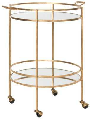 Lavinia Bar Cart - Gold - Domino