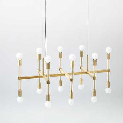 Acrylic Framework Chandelier - Antique Brass - West Elm